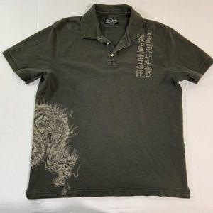 Men's Lucky Brand Logo Polo Tee Shirt XL